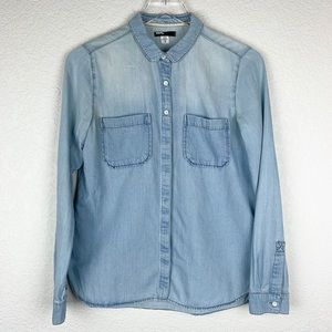 Urban Outfitters BDG Chambray Button-Up Shirt S